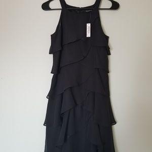 White House Black Market Ruffled Cocktail Dress